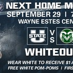 #Whiteout this Thursday night in the Estes Center! @USUVolleyball vs. Colorado St. #AggiesAllTheWay https://t.co/HedkiuZbxx