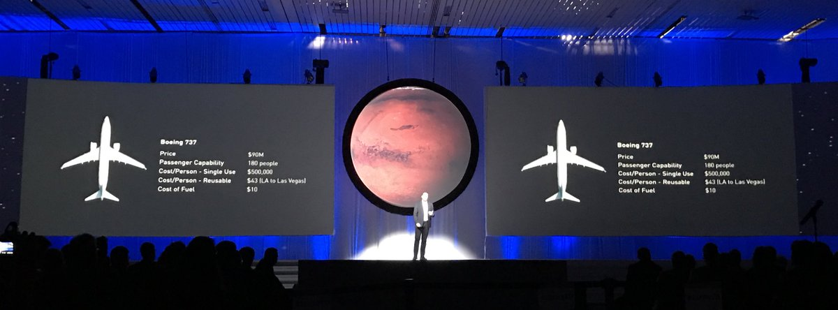 Musk using a metaphor to explain how he'd lower the price. #IAC2016 #SpaceX https://t.co/C9hI31KkwY