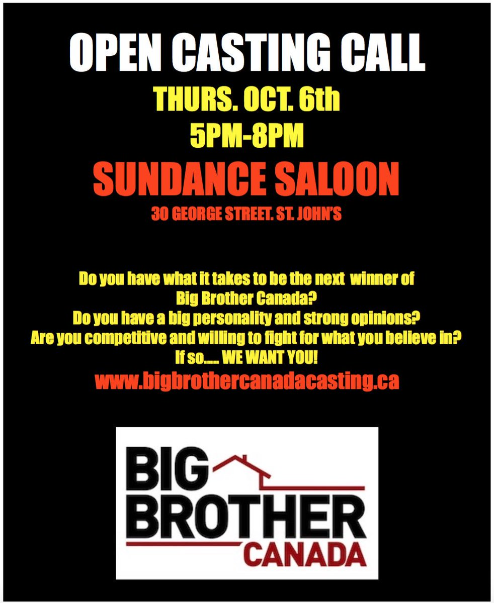 @StJohnsTelegram Hoping you might #retweet our #BigBrotherCanada open casting call https://t.co/5ckJH0XXkL