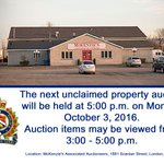 The next unclaimed property auction will be held on October 3, 2016. Read more here: https://t.co/YSZ2hXoYRO #ldnont https://t.co/H8nbBYQwlx