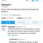 Gobierno debe dar una explicación x mal trato a @evelynmatthei desde cuenta oficial de la @segegob .....bajeza inaceptable vocero diaz¡ https://t.co/YK9hUJ5gTr