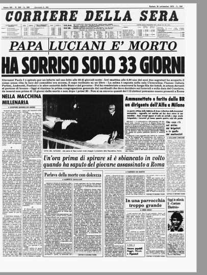 Image result for morto giovanni paolo i