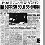 28 settembre 1978, muore Albino Luciani, papa Giovanni Paolo I #ArchivioCorriere: https://t.co/XpVuJAVZ3U https://t.co/ocN2W41l8F
