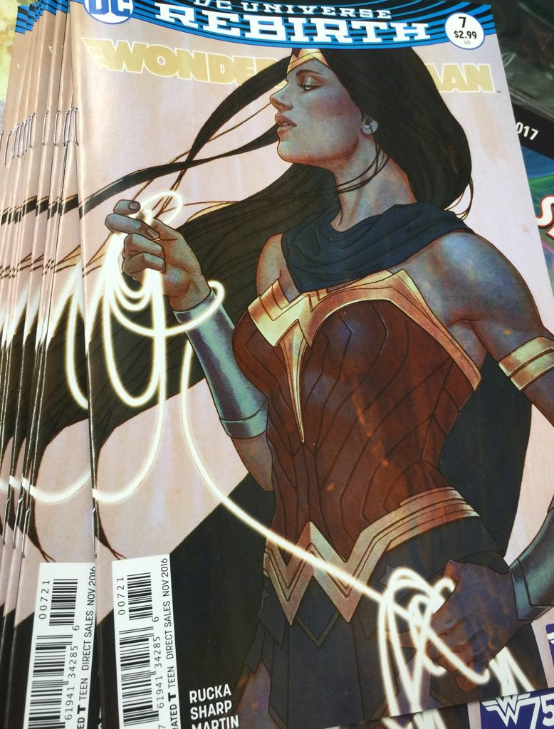 Instantly classic @DCComics  Wonder Woman #7 Variant Cover by Jenny Frison . Iconic run begins. https://t.co/BABsMixzT1