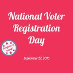 Are you registered? Dont waste your right to vote! #NationalVoterRegistrationDay https://t.co/c3kI8aeChy