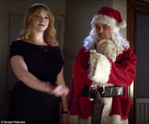 billy bob thornton films shocking scenes with christina hendricks for bad santa 2 https - Christmas Pictures With Santa 2