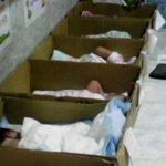 """""""Socialismo"""" descripción gráfica. (niños recién nacidos en cajas de cartón, Venezuela). https://t.co/6G5IQ4kuA2"""