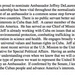 .@POTUS just nominated the first U.S. Ambassador to Cuba in more than 50 years: https://t.co/1rc72hw8Fl https://t.co/3wFUYuROaA