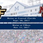 The Black Bears will travel to @UCF_Football and @UMassFootball in 2017! #Hunters Details: https://t.co/pGqY3NpyRG https://t.co/KerOUTsu4i
