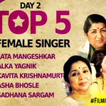 .@mangeshkarlata leads the leaderboard after Day 1 of #FilmiGaaneAntakshari. Now, make your favourites reach the top of the leaderboard too. https://t.co/WOu6Fodxhp