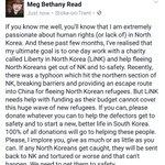 Please donate, no matter how small. North Korean defectors need your help.  https://t.co/li6BLyuazR https://t.co/AnZ0Zt0YgM