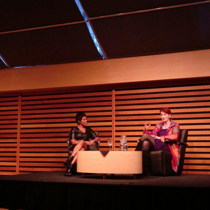 Tonight in the #AppelSalon: Emma Donoghue (with interviewer @MarciIen). https://t.co/vE2fISIfvI