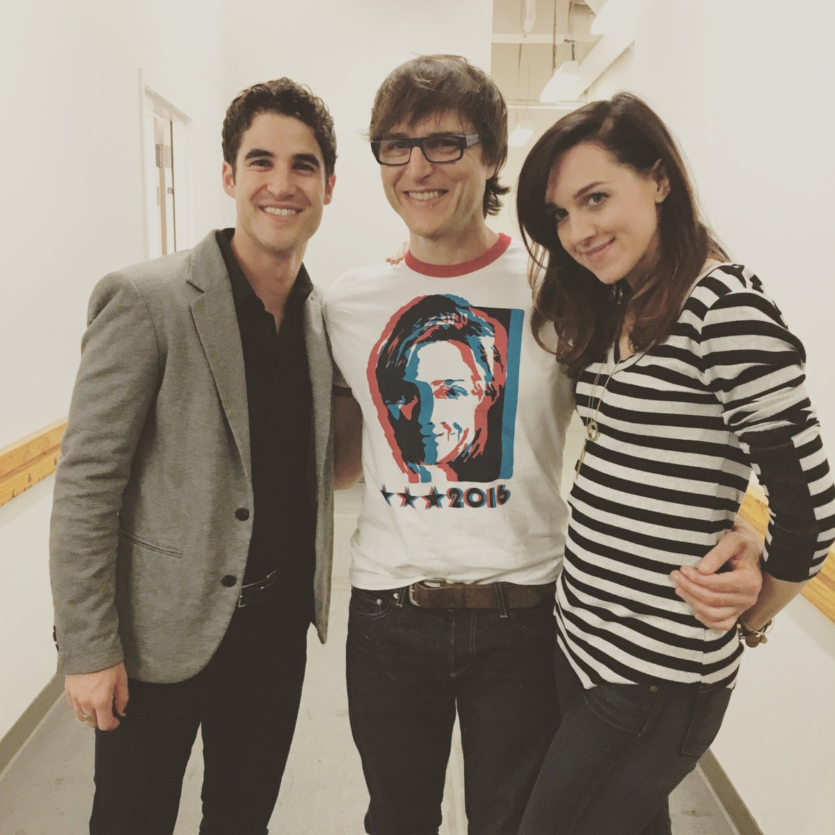 .@HedwigOnBway's @darrencriss @stephentrask & @lenarockerhall have arrived at the SHN Orpheum Theatre!