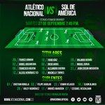 El profesor Reinaldo Rueda eligió a estos 11 jugadores para enfrentar el partido de esta noche. #VamosNacional https://t.co/EC6op0D4p6