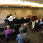 Crowd gathering to learn about 5 #Colorado issues -starts 6pm see @DurangoHerald https://t.co/XRgHmGguWL
