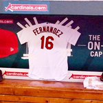 Aledmys Diaz has hung a Jose Fernandez #STLCards jersey in the dugout for tonights game. #RIPJose https://t.co/xWkTfyKmCh