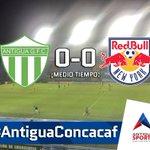 ¡MEDIO TIEMPO! Antigua GFC iguala con NY Red Bulls en la Liga de Campeones. ¿Habrá un ganador? #AntiguaConcacaf https://t.co/HnkLk1429T