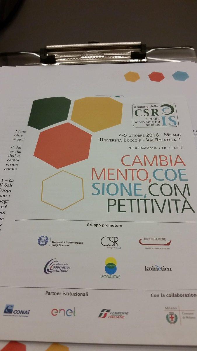 """In Bocconi per #csris16 per parlare di """"Oltre l'empowermwnt:il ruolo della donna per lo sviluppo della società"""" https://t.co/60XyVYNFgK"""