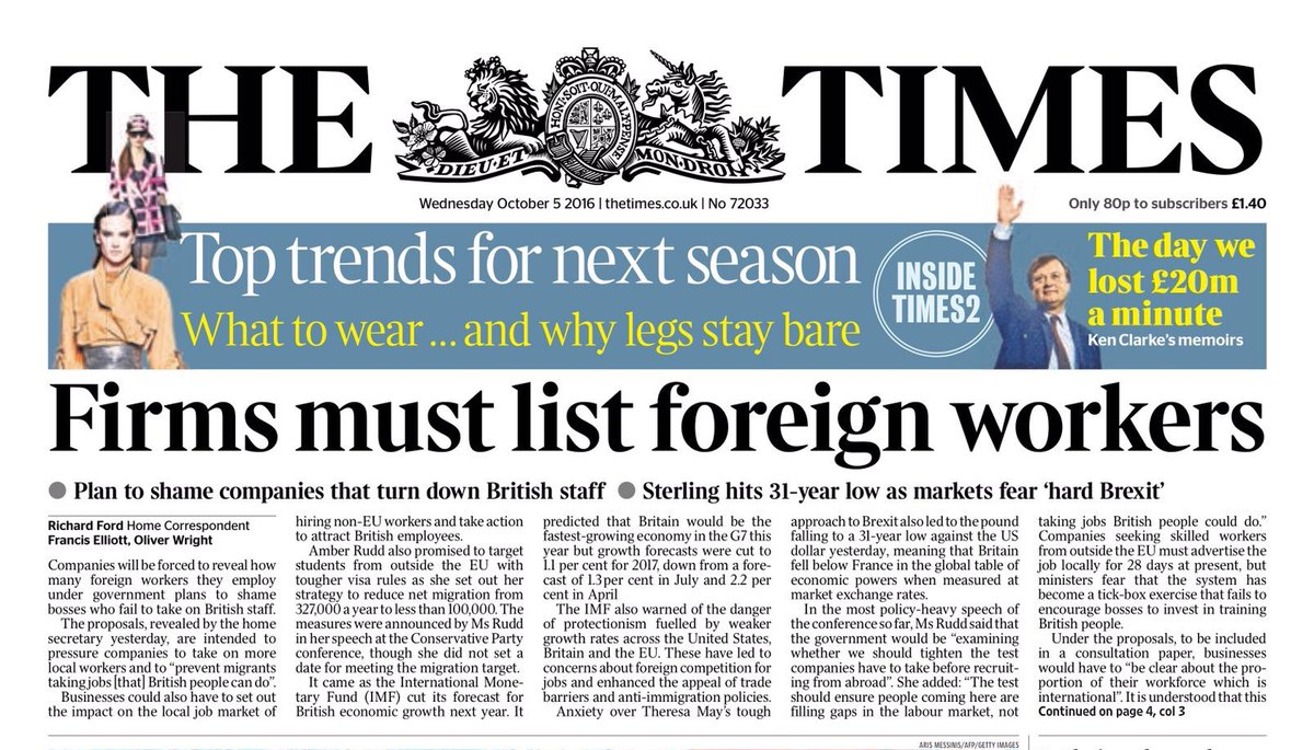 """Looking forward to the Headline """"MEDIA MUST LIST FOREIGN OWNERS"""" https://t.co/SVSKgd6lco"""