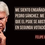 Demoledor Felipe González en avance de la entrevista en @HoyPorHoy con @PepaBueno. Hay que cambiar #PorUnPSOEganador https://t.co/V9RaznTOkD
