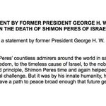 "In statement, former Pres. George H.W. Bush says Shimon Peres ""inspired the world over."" https://t.co/0DUEV0Obza https://t.co/sAURdqtdim"