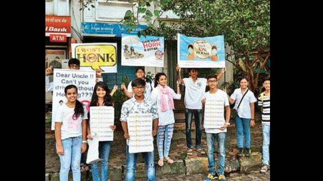 Mumbai: Shh..no honking!, Kandivli teens urge commuters: Noise clamp | More than 110