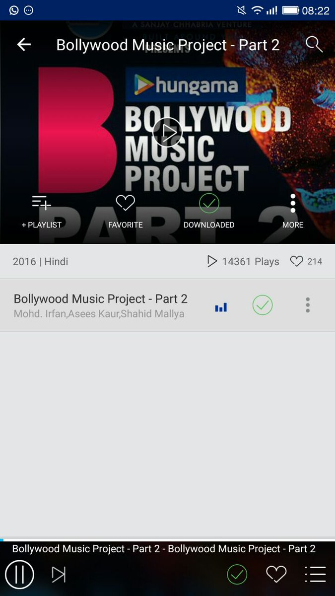 @Hungama_com @bmp_online  Downloaded Playist #HungamaAtBMP #HungamaMusic https://t.co/ ...