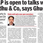 RT AAPInNewsPB: AAP is open to talks with Sidhu & Co, says Ghuggi #AAPInNews https://t.co/fHwxV0Qy6V