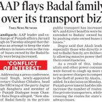 RT AAPInNewsPB: `CONFLICT OF INTEREST - AAP flays Badal family over its transport biz https://t.co/7tiFqw8Jcp