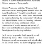 Obamas Shimon Peres statement is another one of those he clearly wrote himself https://t.co/sIKJhmIIb6