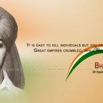 Tributes to #ShaheedBhagatSingh on his Birth Anniversary ! Epitome of supreme sacrifice,courage & valour. https://t.co/knmLsqtMCY