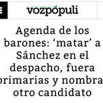 AGENDA BARONES DEL @PSOE - MATAR A SANCHEZ - PRIMARIAS NO - NOMBRAR CANDIDATA FONTANERA.... #FelizMiercoles https://t.co/ru8ReHOs8a