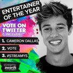 Have you voted for @camerondallas for Entertainer of the YEAR!!? RT #streamys https://t.co/mFIrAIypSb