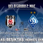 ⚽ 🏁 BEŞİKTAŞ - Dinamo Kiev 🏁 ⚽ 🏆 Vodafone Arena ⌚ 21:45 📺 Tivibu #BEŞİKTAŞınMaçıVar #ChampionsLeague #UCL https://t.co/qqwuE69pfn