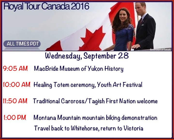 It's that time again....here is your royal tour day 5 schedule.
