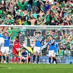 Rangers players devastated and the Hibs fans going crazy in the backgroud after David Grays winner is priceless 💚😝 https://t.co/BQQHoDvAk5