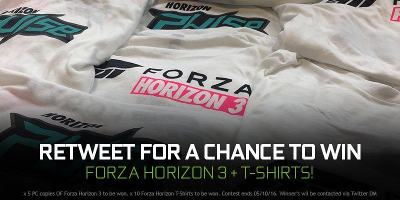 RETWEET for a chance to win a copy of Forza Horizon 3! https://t.co/apZ2vUimmm