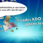 #JeNeSuisPasRadinMais un peu quand même, alors je vous fais gagner que 20 codes KDO parmi les RT ! 😜  TAS à 18h https://t.co/16eRlioBst