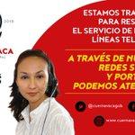 Trabajamos para restablecer nuestras líneas telefónicas, a través de nuestras redes sociales y portal web podemos atenderte #Cuernavaca https://t.co/LZybXbG0wv
