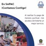 Al realiza tu pago de manera puntual nos ayudas a brindarte un mejor servicio. #SAPAC #Cuernavaca https://t.co/yEnqSX8n2d