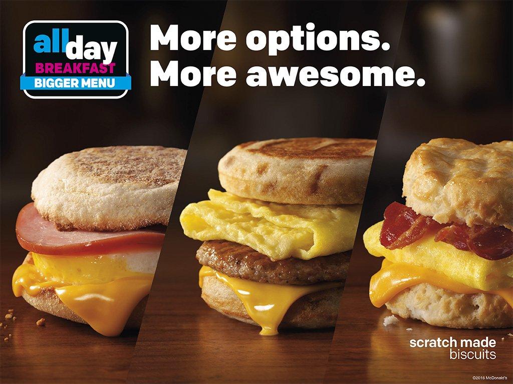 McDonald's #AllDayBreakfast ju