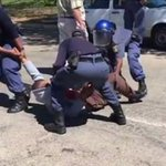 [WATCH] Students angry after cops drag peer, fire rubber bullets at Rhodes https://t.co/TZnpWDvTiw https://t.co/z6CWREzUck