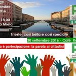 Arriva la Festa Pd: due date (29 e 30/9), due location(@TeatroMiela e @CafeRossetti)ma stesso orario: 18.00 #Trieste https://t.co/fPFkkAErNo