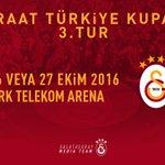 Galatasarayın Ziraat Türkiye Kupası 3. Turunda Dersimspor ile oynayacağı maç, 25, 26 veya 27 Ekim'de TT Arena'da. https://t.co/EcmL5pApyJ