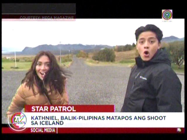 #TVPatrol KathNiel, balik-Pilipinas matapos ang shoot sa Iceland I Ulat ni @mjfelipe https://t.co/v2biZR3Ptp