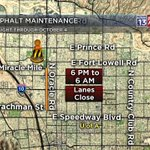 #CONSTRUCTION: We have overnight construction again tonight. Goes 6 pm to 6 am through Oct 4. #Tucson https://t.co/cVnCiT0NdC