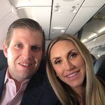 En route to North Carolina!! #MAGA #TrumpTrain @LaraLeaTrump 🚂💨💨🇺🇸🇺🇸🇺🇸 https://t.co/fKpkaDQM8f