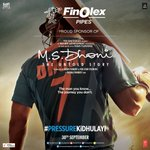 Finolex Pipes proud sponsors of MS Dhoni - The Untold Story is now in theatres! https://t.co/A3MvdTj7bh