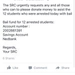 Arrested Rhodes students were denied bail. We now need to raise R30000 so they can appear before High Court. Please PLEASE donate https://t.co/wuN6EhzSYU