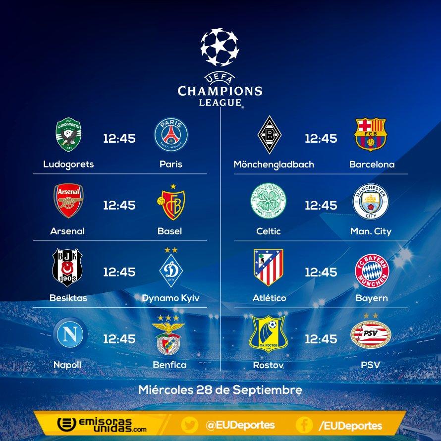 Champions League UCL As U00ed Se Juega La Champions League Hoy